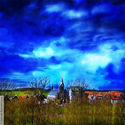 Maker Salman Ezzammoury Titel De Martinuskerk in Oudeschild -Texel Jaar 2016