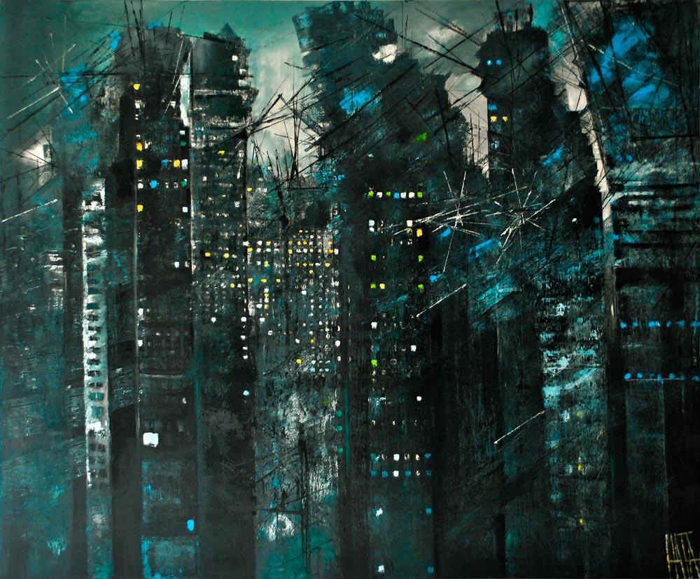 Maja Sokołowska-City of fools-oil on canvas - Zaansgroen