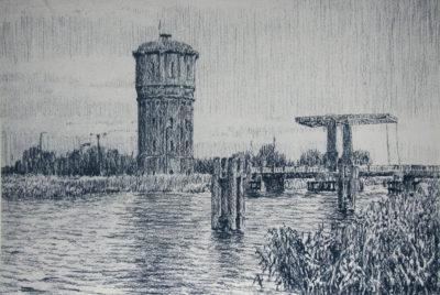 frans room - watertoren - assendelft - zeefdruk - zaansgroen
