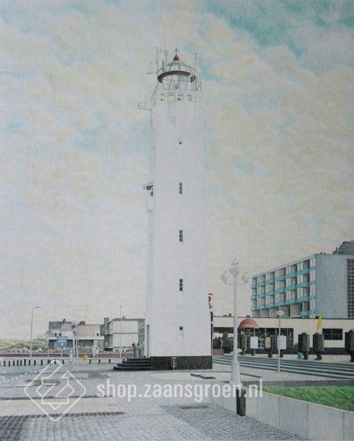 FR0043-noordwijk-vuurtoren-zeefdruk-te-koop-zaansgroen