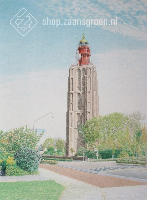 FR0045-westkapelle-hoog-vuurtoren-zeefdruk-te-koop-zaansgroen