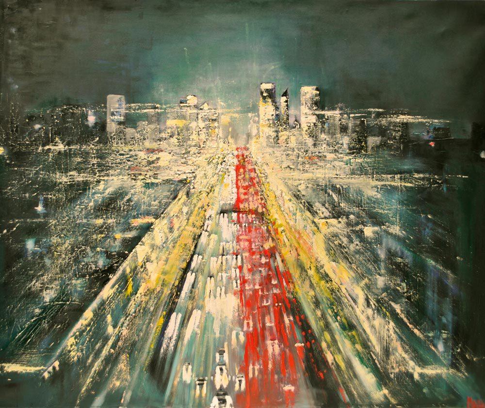Maja Sokołowska-PARIS-BY-NIGHT-oli on canvas - Zaansgroen