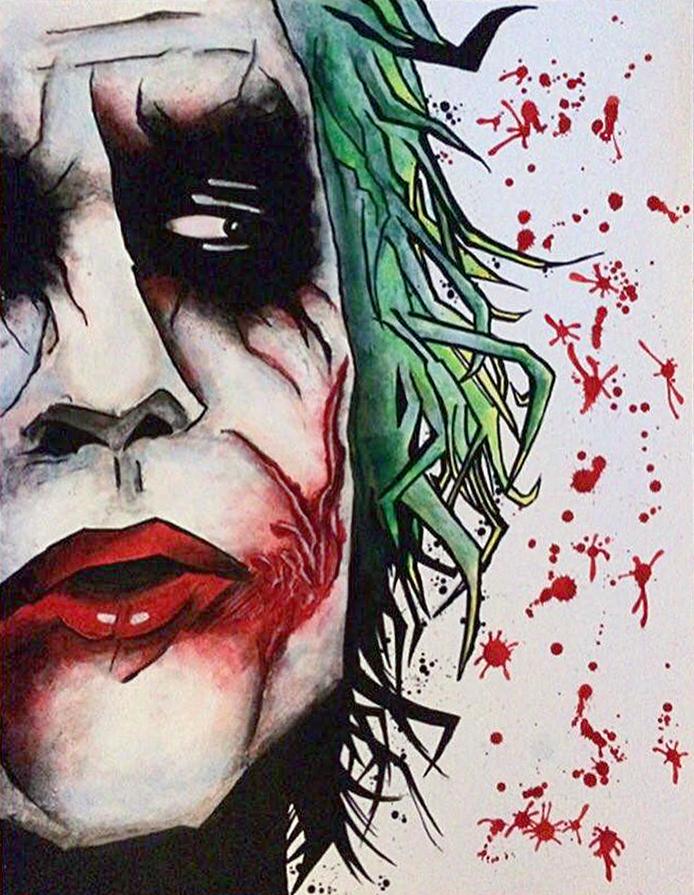 The Joker - David Rachman - tekening - Zaansgroen