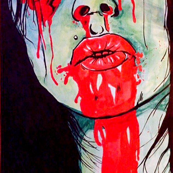 Zombie Chick - David Rachman - tekening - Zaansgroen