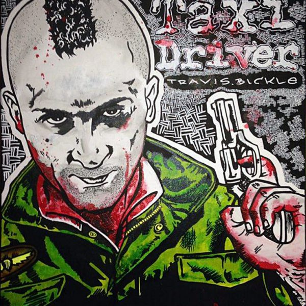 Taxidriver - David Rachman - tekening - Zaansgroen