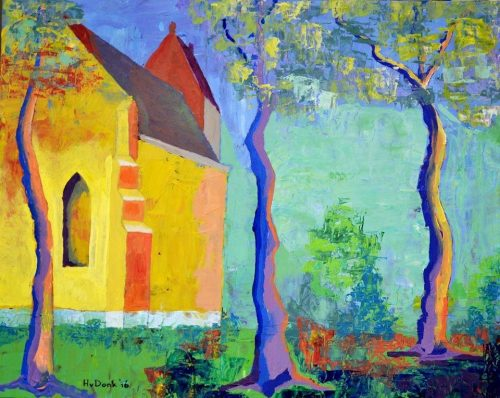 Kerkje Westernieland - Henk van Donk - galerie Zaansgroen - Zaandam