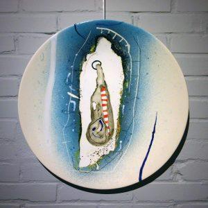 Co van Assema - Krommenie - Zaansgroen - Keramiek - bord