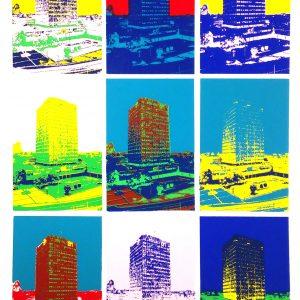 ed visser - AH toren - Zaandam - Andy Warhole stijl - Zaansgroen