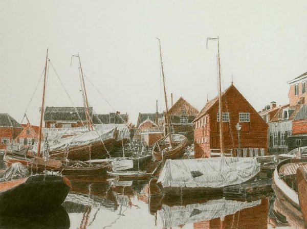 bunschoten - spakenburg - oude haven - frans room - te koop