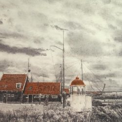 haven van marken - frans room - zeefdruk