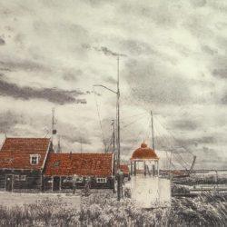haven van marken - frans room - zeefdruk