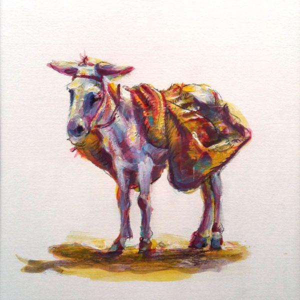 Ezel van Frans Brandsen 2011 - acryl op papier