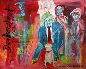 Acryl schilderij 'Dondersloot, the gallery' door Marcel de With.