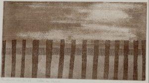 Frits Anton van der Horst - Palen op het strand - Ets op papier