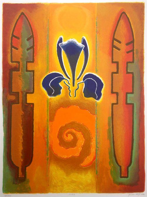 jan-van-delft-iris zeefdruk uit 2000