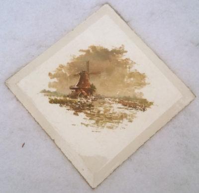 molen-de-zoeker zaandam geschilderd op tegel