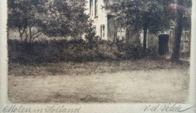 anna maria van de Velde - Hendriks ets molen in Holland