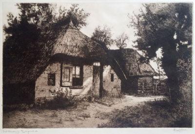 Cor van der Woerd - ets - Veluwe