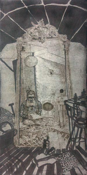 19451 hans kuyt zelfportret gemengde techniek