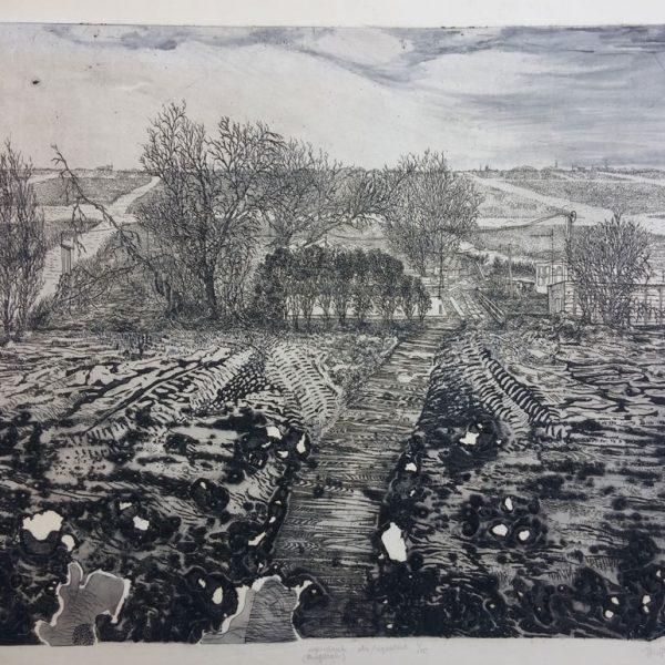 19453 hans kuyt winterlandschap ets aquatint