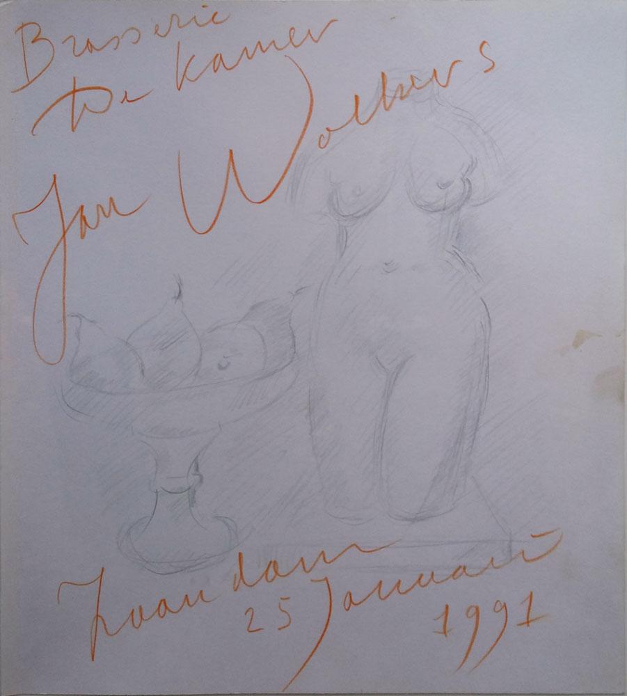 Jan Wolkers tekening
