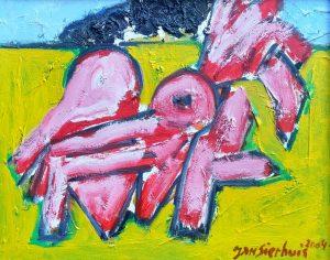 Jan Sierhuis olieverf schilderij