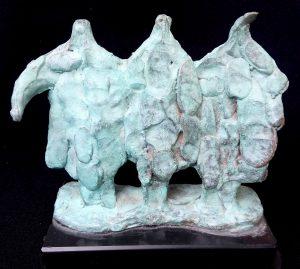 brons beeldje van Hans Blank