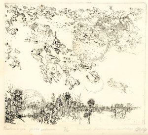 Belcampo duivels boven een landschap hans kuyt 19488