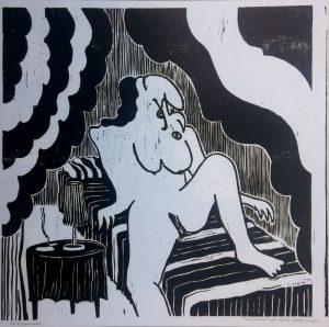 20108-de-prostituee peter louman houtsnede