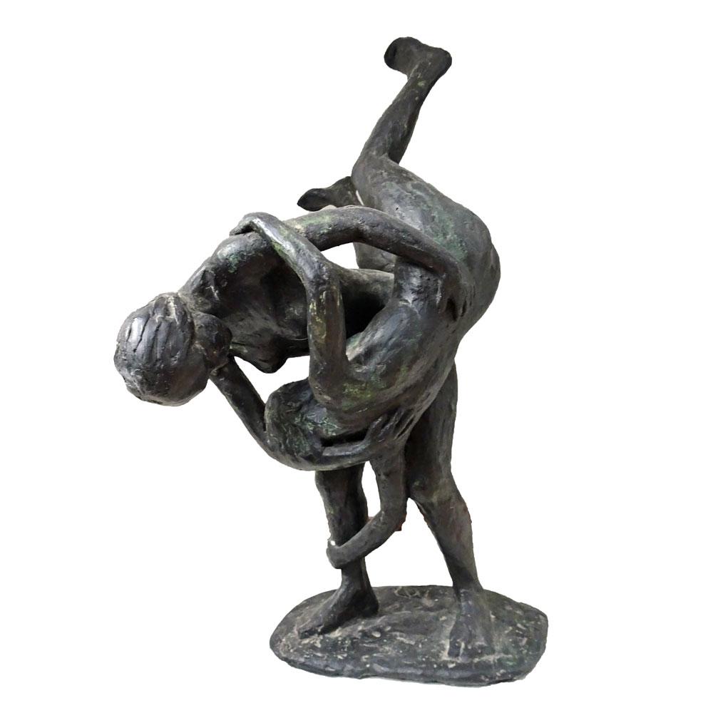 K006-moeder-kind-spel-brons-anneke-dammers