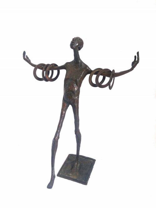 Jaroslawa Dankowa jongleur brons beeld