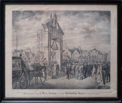 w20346-druk-de-koning-in-zaandam Herman Thepass lithograaf