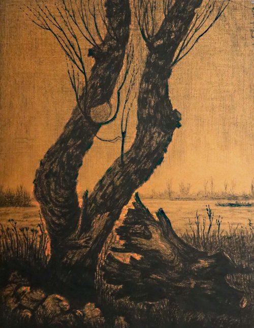 Jan van den Thillart tekening krijt