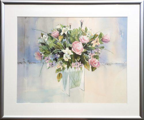 Jan Groenhart aquarel boeket