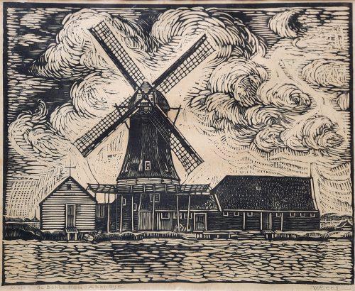 Willem Rees houtsnede Haarlem